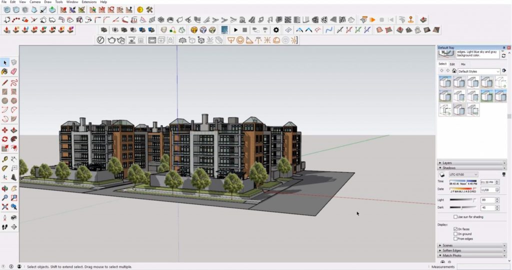 hiding duplicate shadows in Sketchup