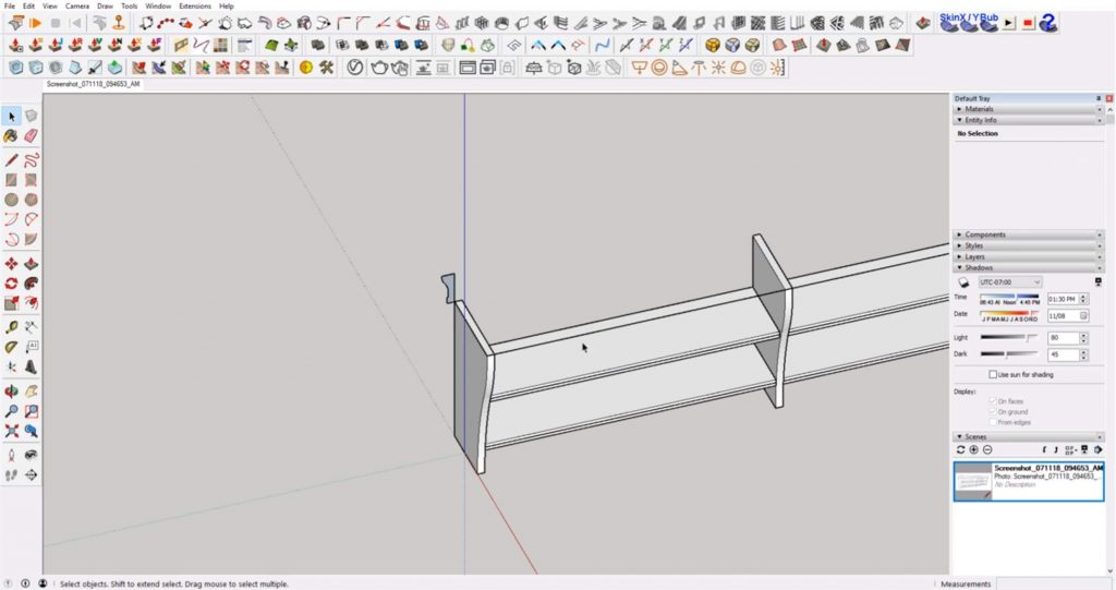 rotate profile shape of IKEA furniture in Sketchup
