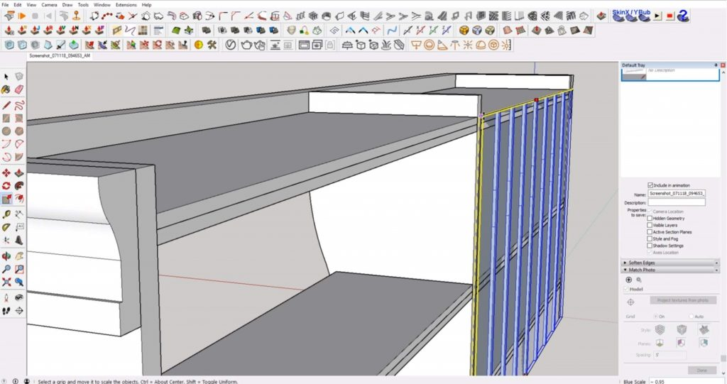 scale beadboard of IKEA furniture in SKetchup