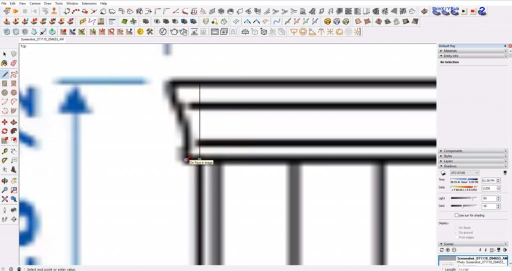 trace profile shape of IKEA furniture in Sketchup