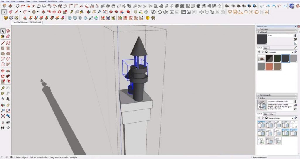 add chimney to Sketchup speed model