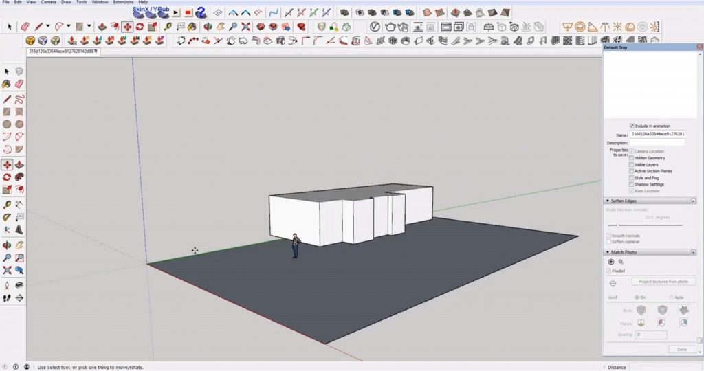 block out Sketchup Speed model