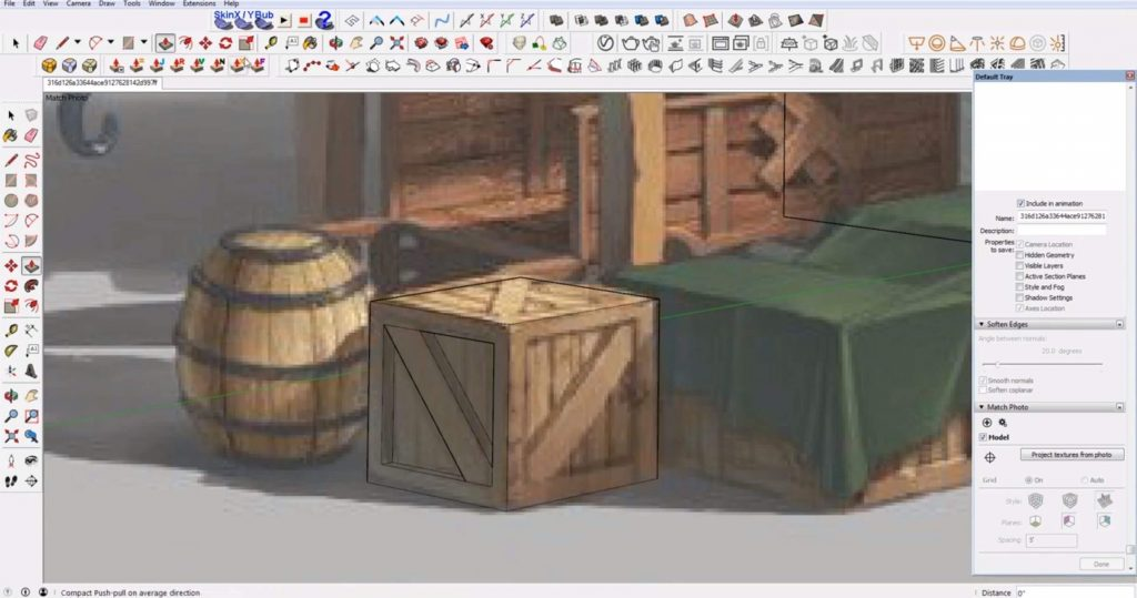 add details to Sketchup speed model