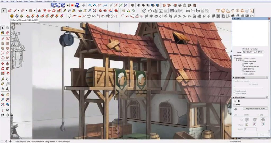 add balcony to Sketchup speed model