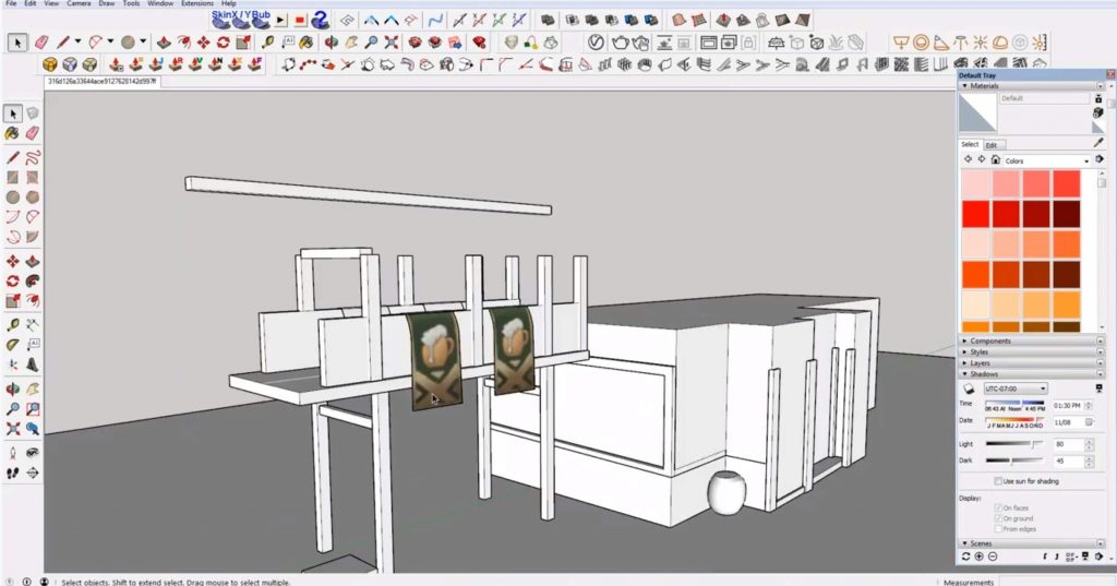 add balcony details to Sketchup speed model