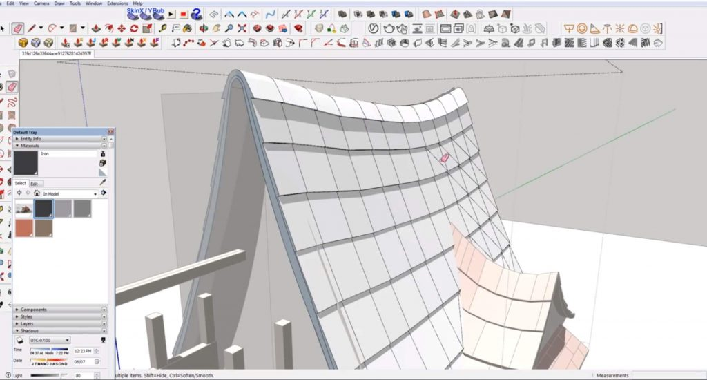 add roof shingles to larger section in Sketchup speed model