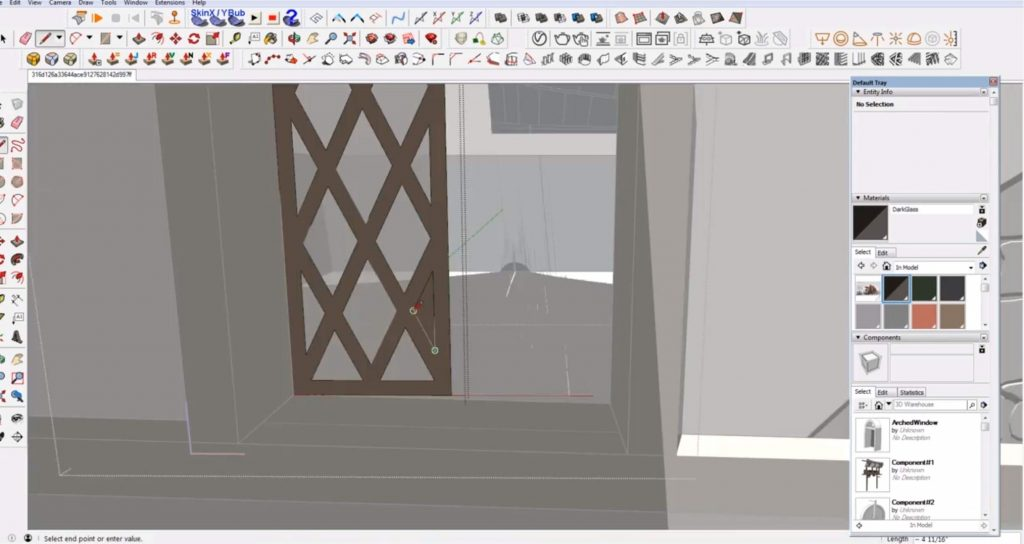 add window cutouts to Sketchup speed model