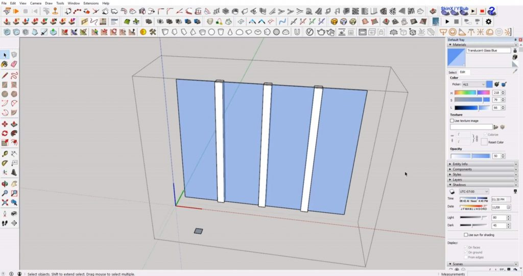 divide muntins on windows in Sketchup