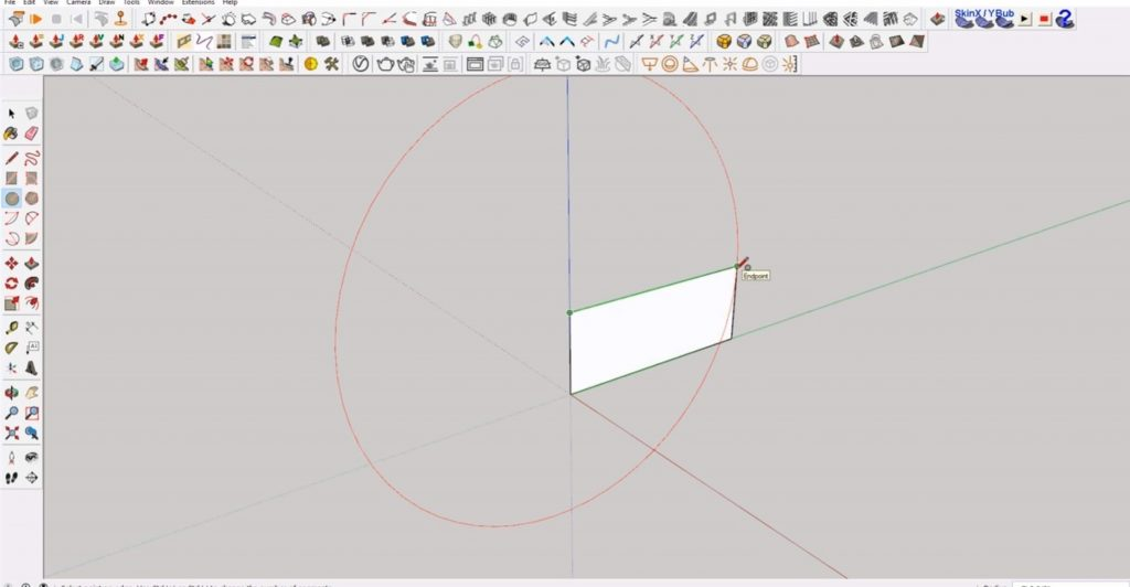 draw circle of interlocking shapes