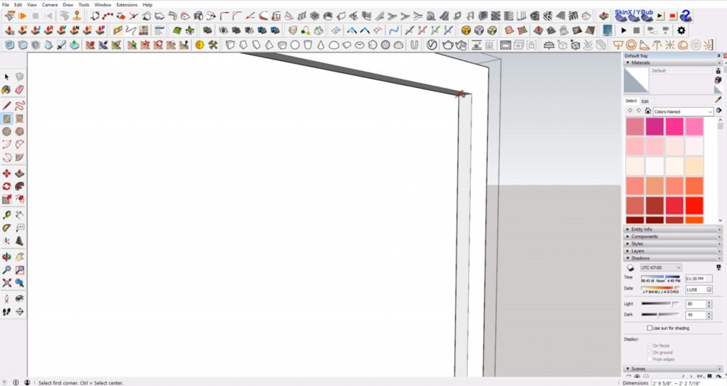 draw glass on windows in Sketchup