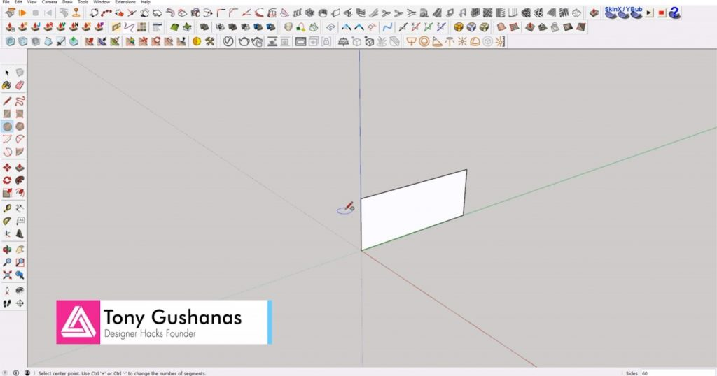 draw rectangle of interlocking shapes