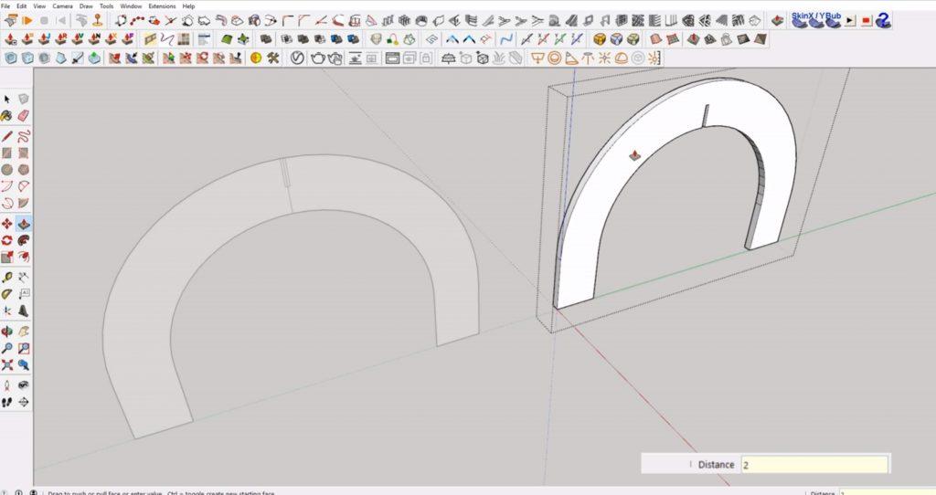 extrude interlocking shapes