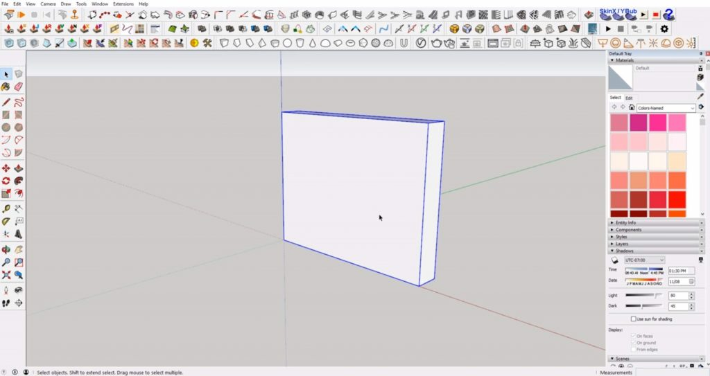 make wall for windows in Sketchup