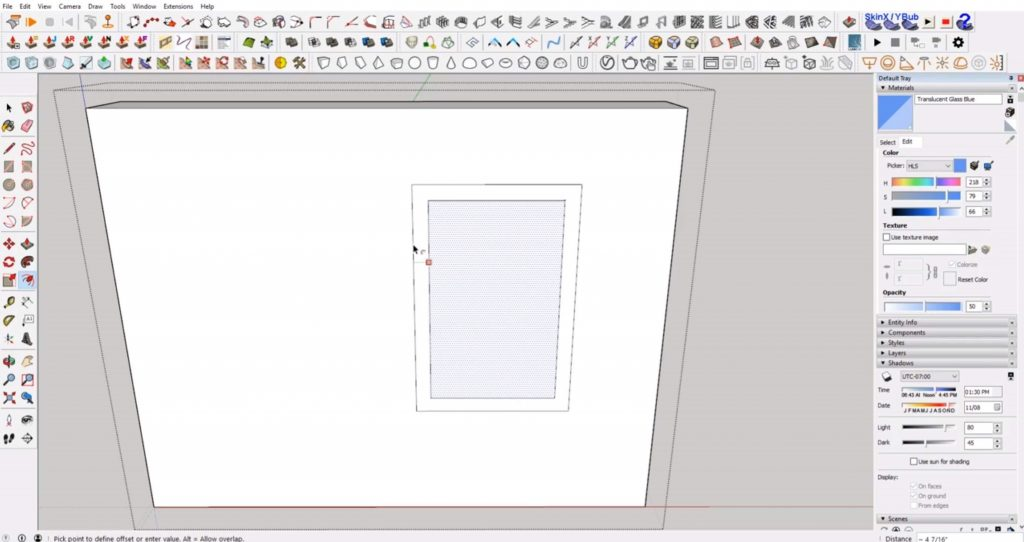 offset trim of windows in Sketchup