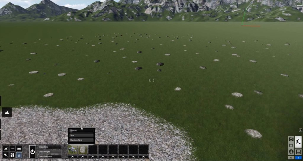 edit type of realistic grass in Lumion