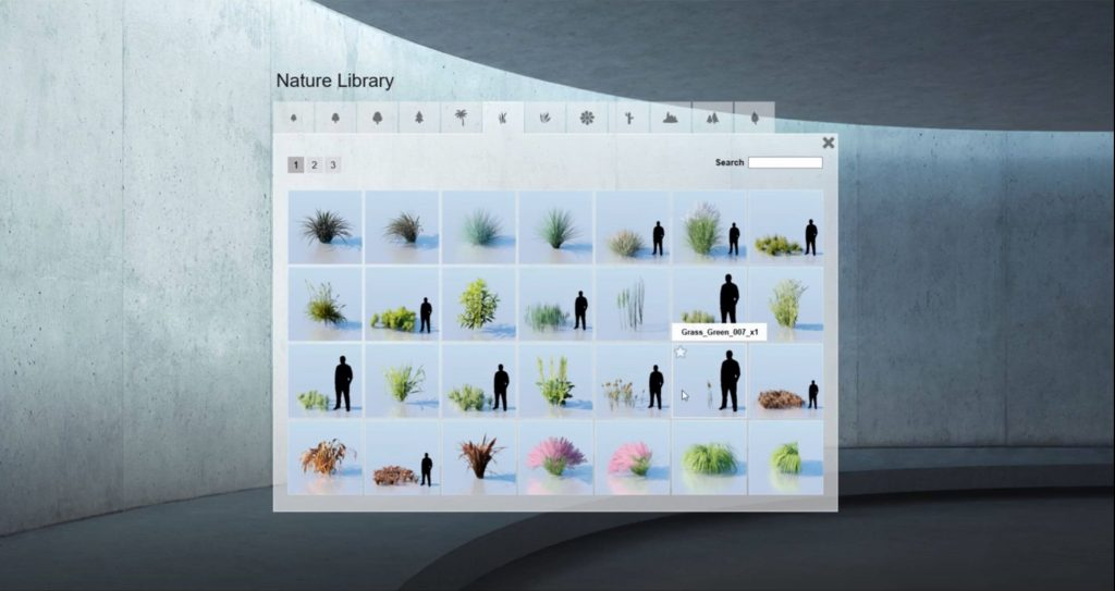 nature library of realistic grass in Sketchup