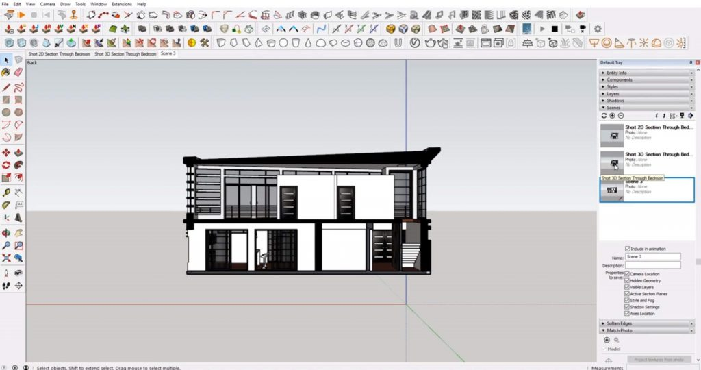 sections in Sketchup third scene